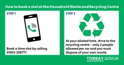 From Monday 13th July trailers are allowed at Recycling Centre for garden waste