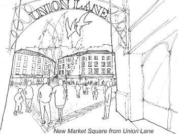 New Market Square from Union Lane