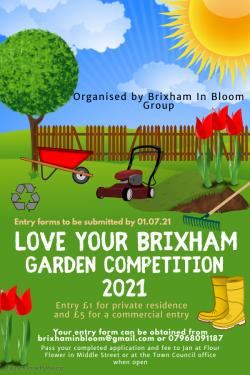 Brixham In Bloom - Love Your Brixham Garden Competition 2021