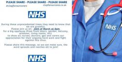 Show your appreciation for the NHS tonight