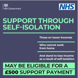 Test and Trace Self Isolation Support Payment scheme now live