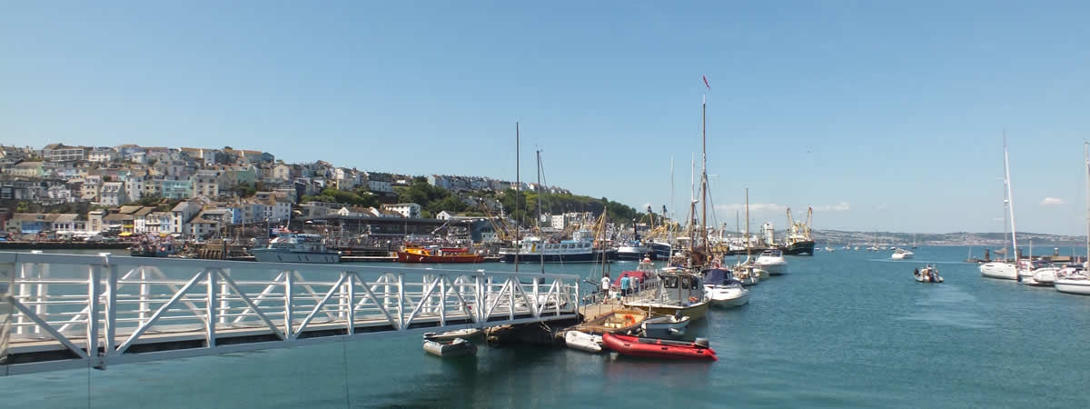 Views over the harbour at Brixham