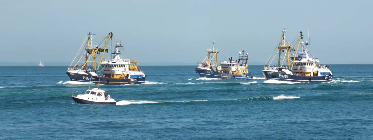 The annual Brixham Trawler Race is a popular attraction